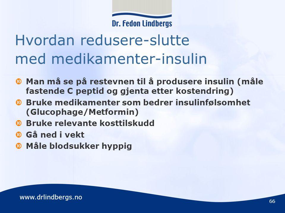 Hvordan redusere-slutte med medikamenter-insulin