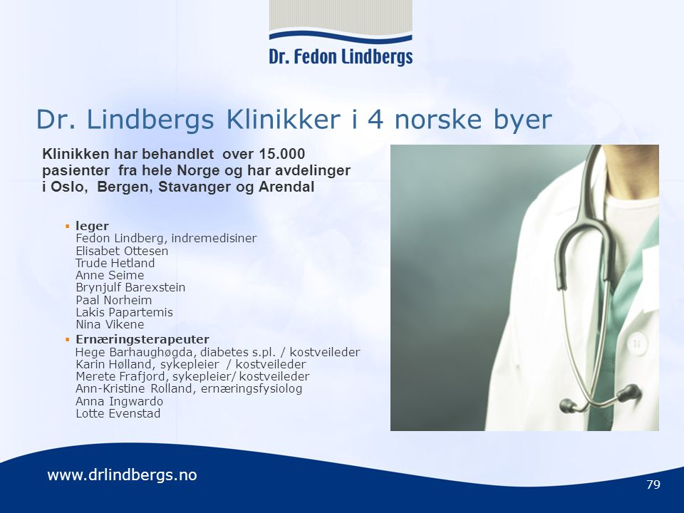 Dr. Lindbergs Klinikker i 4 norske byer