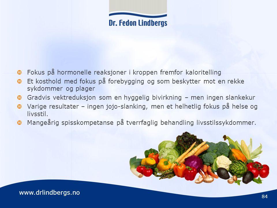 Fokus på hormonelle reaksjoner i kroppen fremfor kaloritelling