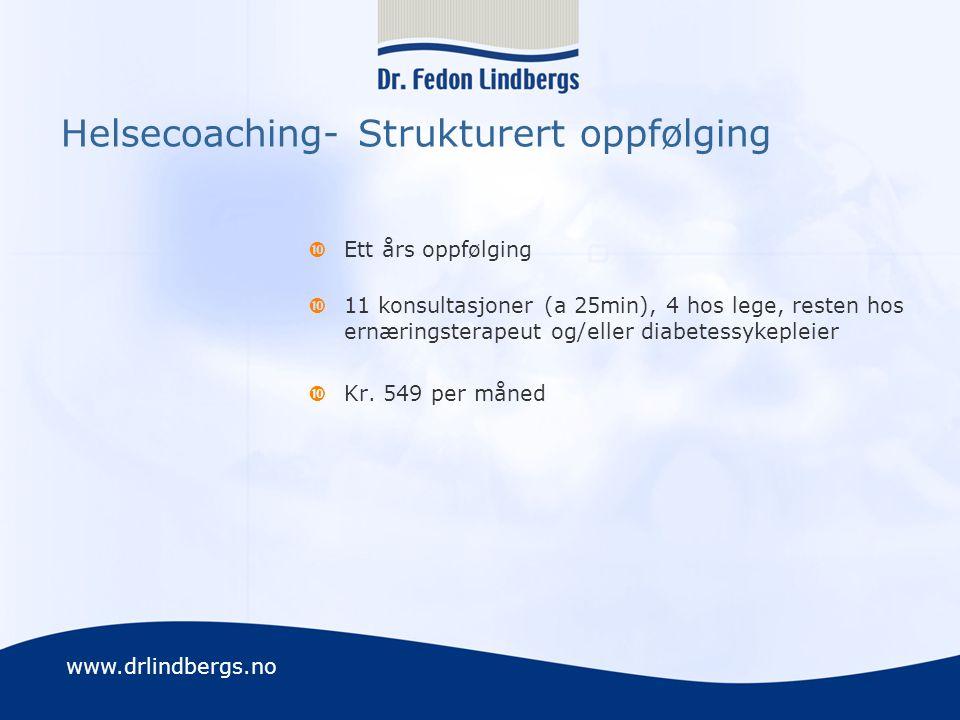 Helsecoaching- Strukturert oppfølging