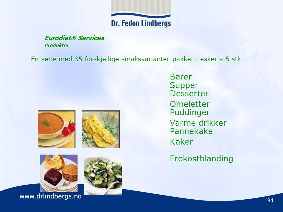 Eurodiet Services Produkter