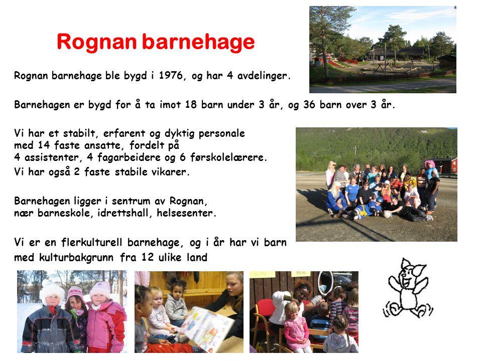 Rognan barnehage Vi er en flerkulturell barnehage, og i år har vi barn