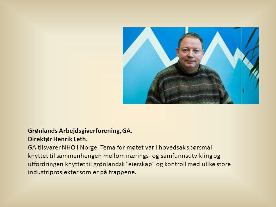 Grønlands Arbejdsgiverforening, GA.