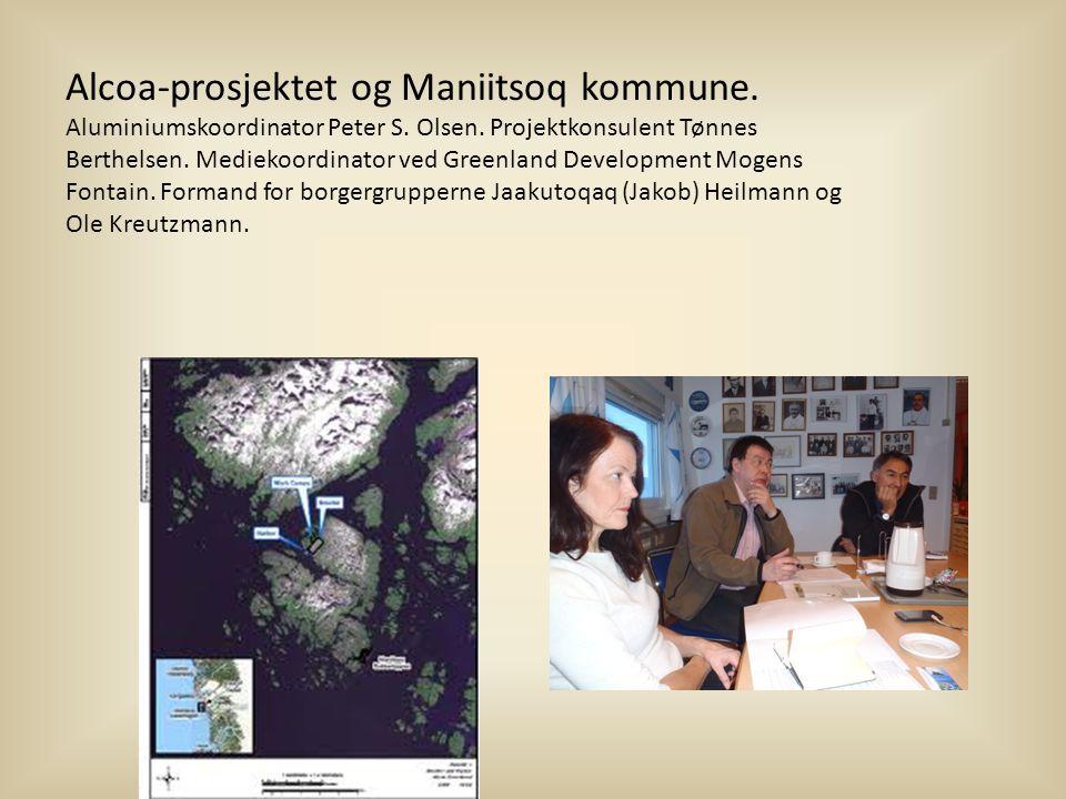 Alcoa-prosjektet og Maniitsoq kommune.