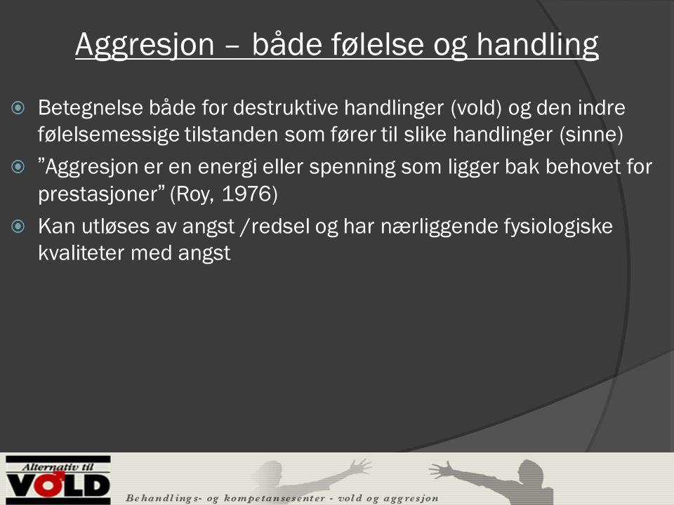 Aggresjon – både følelse og handling