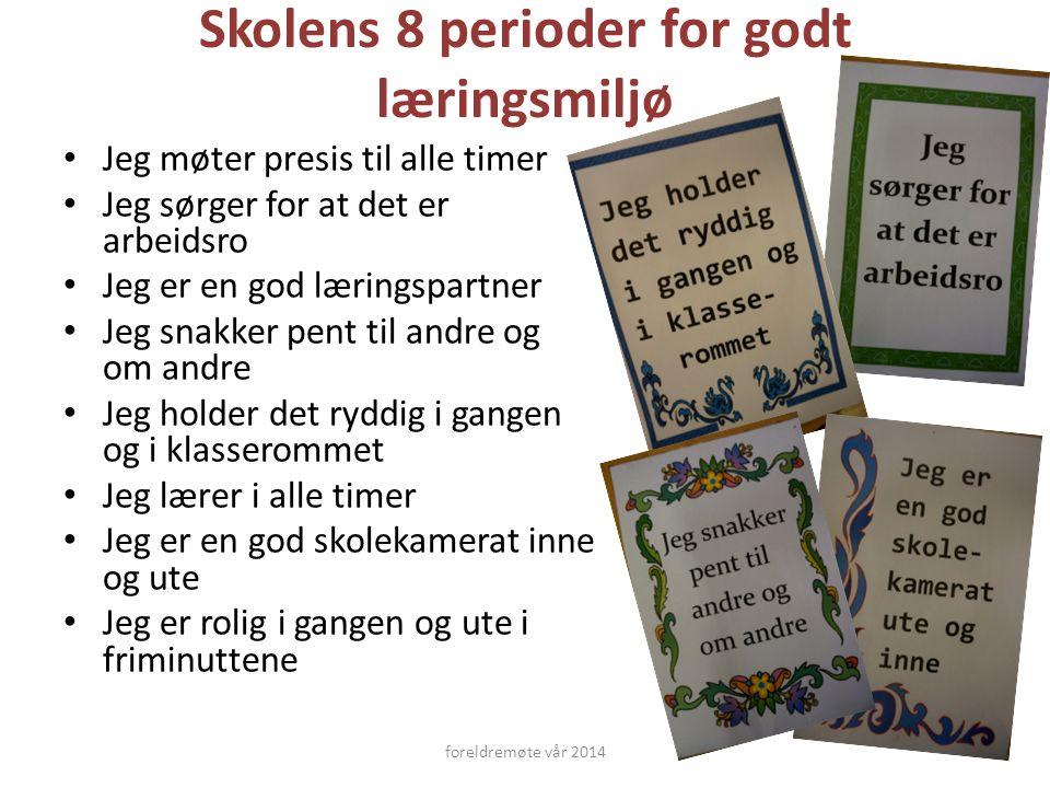 Skolens 8 perioder for godt læringsmiljø