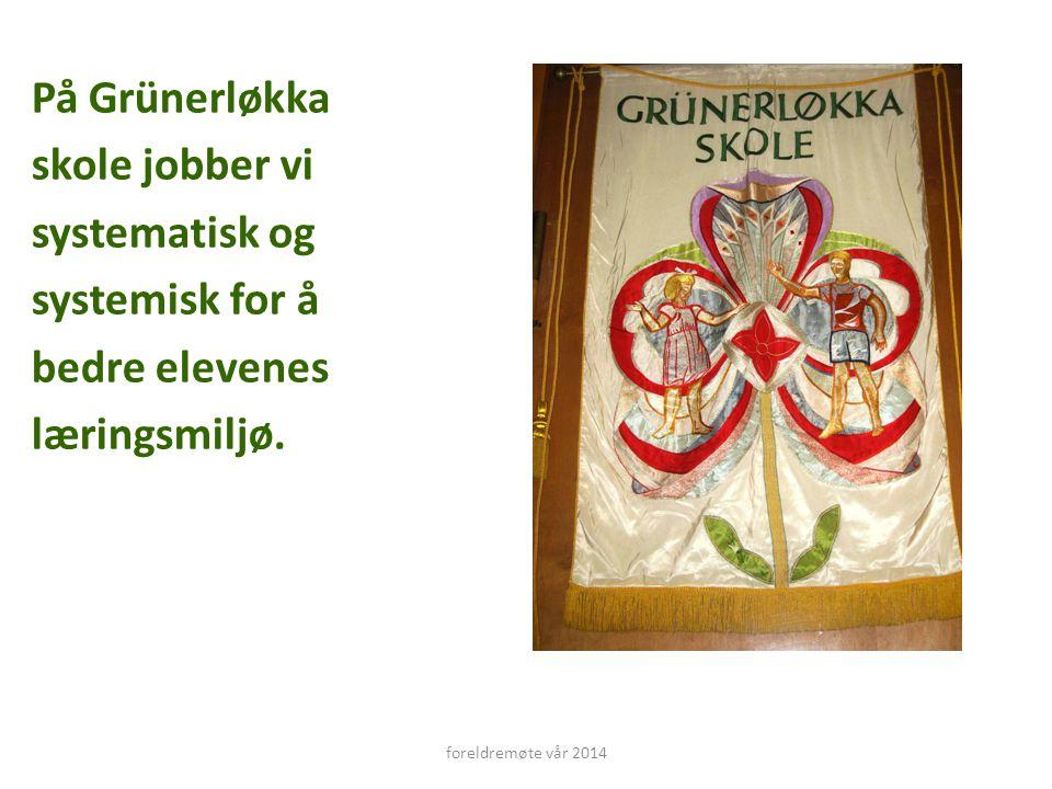 På Grünerløkka skole jobber vi systematisk og systemisk for å