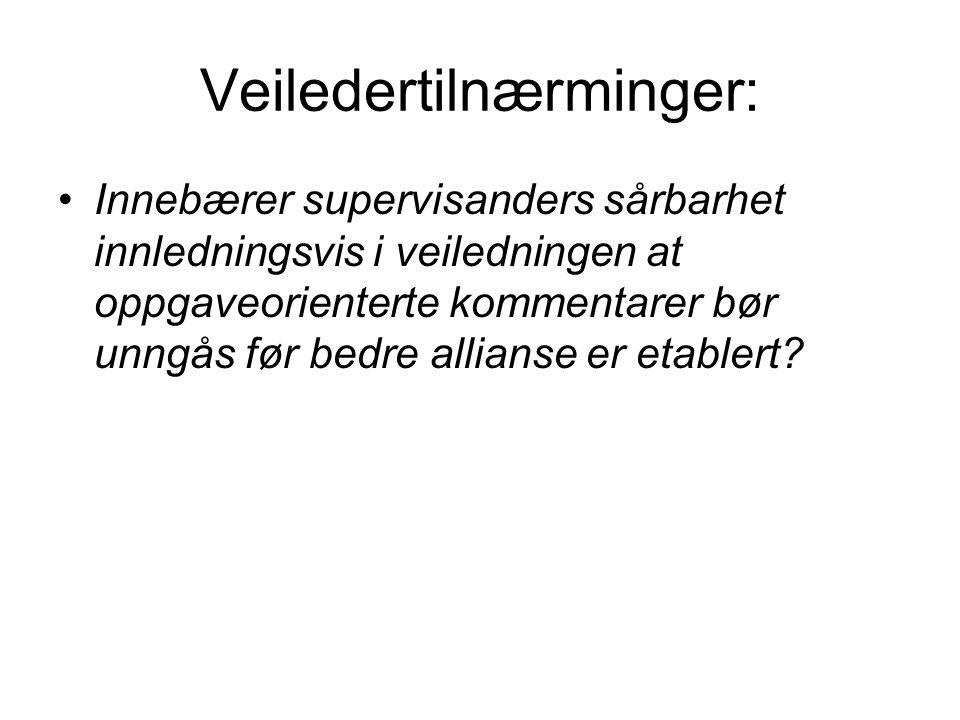 Veiledertilnærminger: