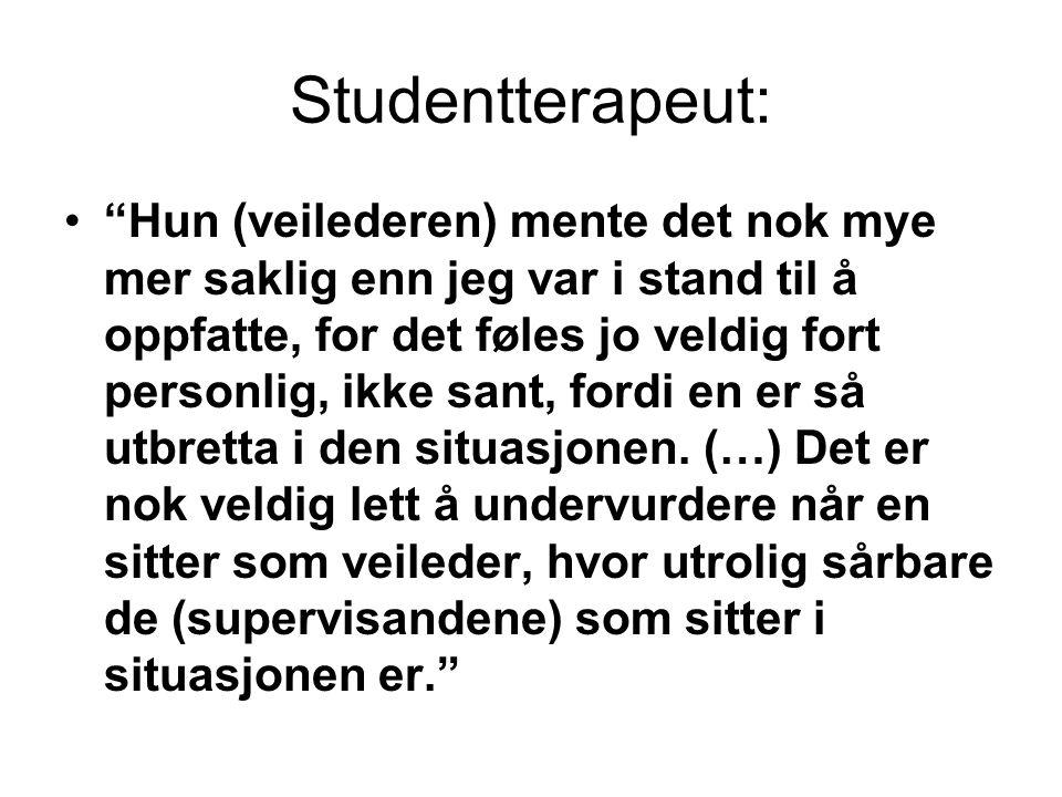 Studentterapeut: