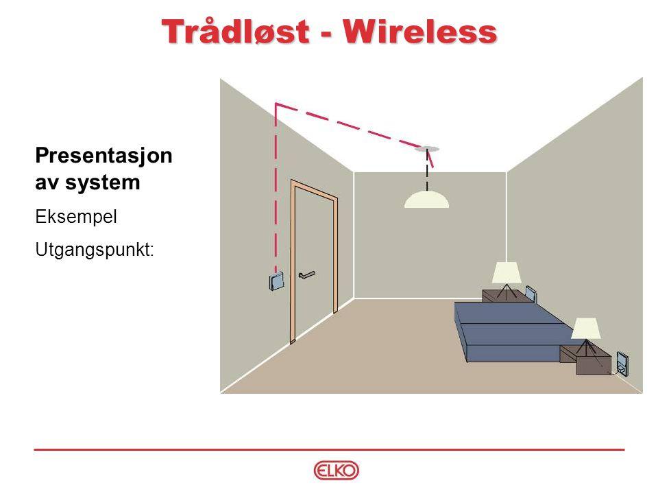 Trådløst - Wireless Presentasjon av system Eksempel Utgangspunkt:
