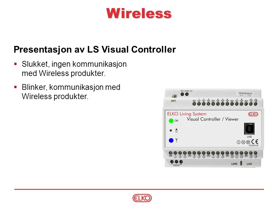 Wireless Presentasjon av LS Visual Controller
