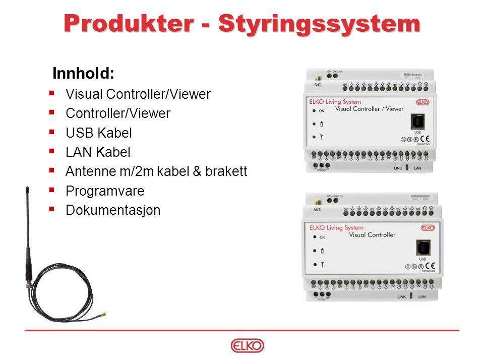 Produkter - Styringssystem