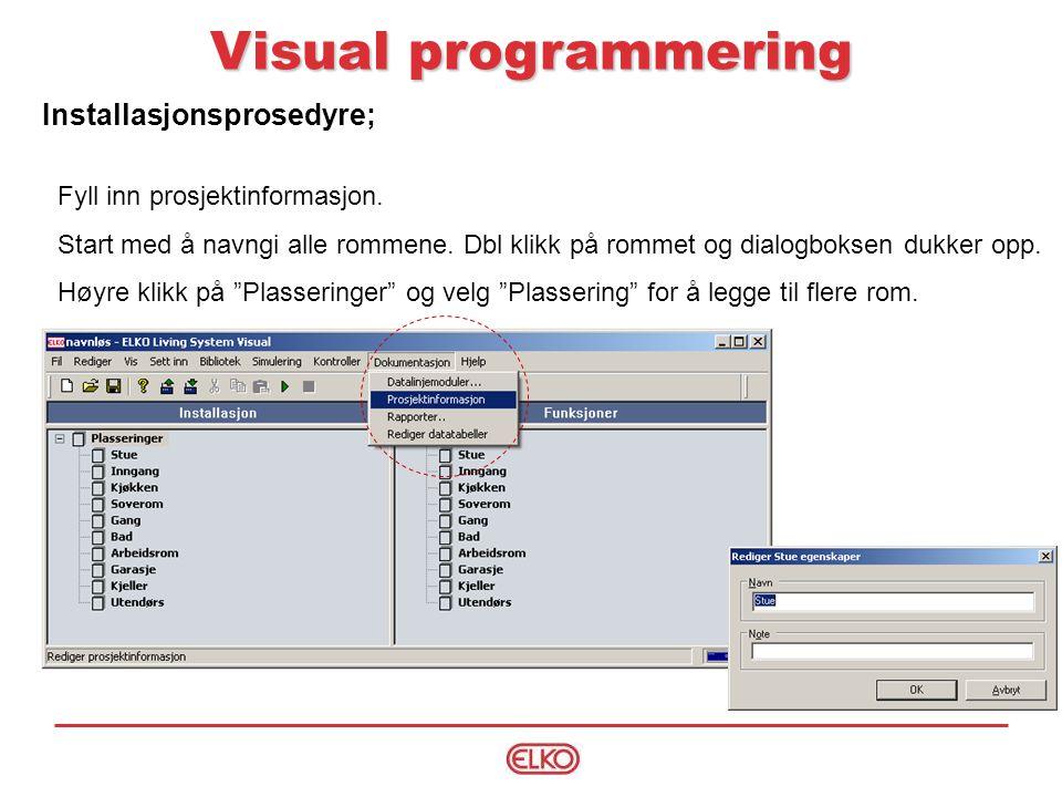 Visual programmering Installasjonsprosedyre;