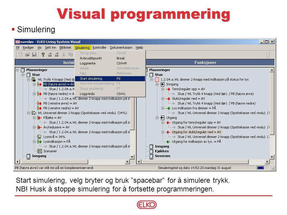 Visual programmering Simulering