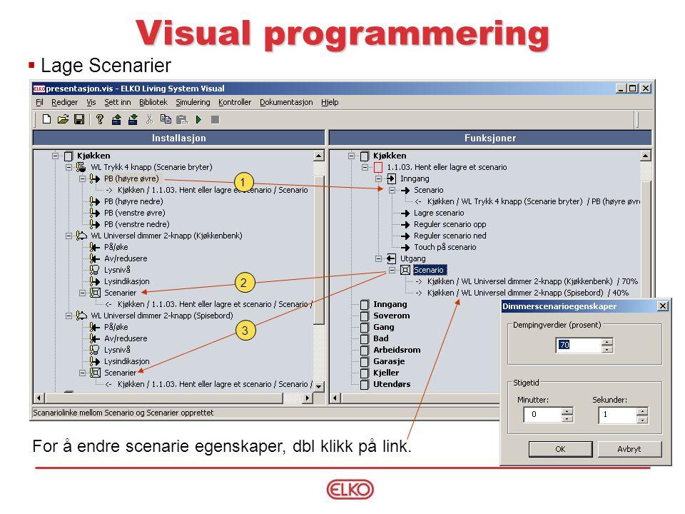 Visual programmering Lage Scenarier