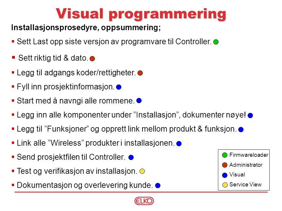 Visual programmering Sett riktig tid & dato.