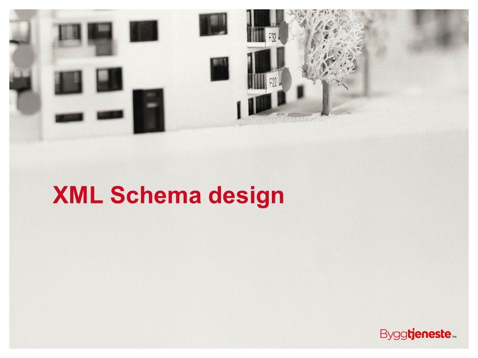 XML Schema design