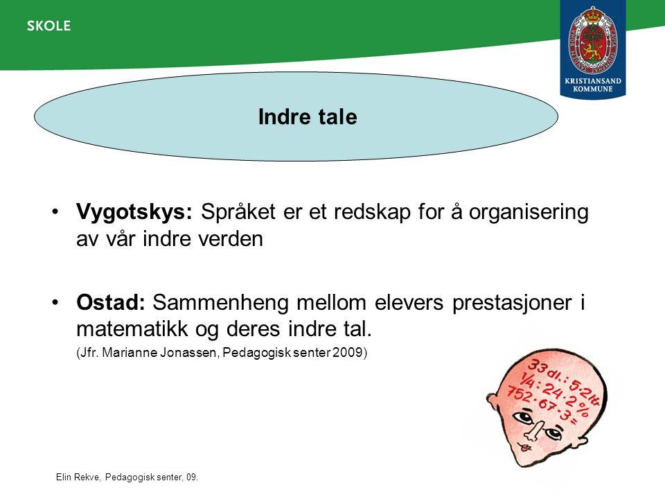 Indre tale Vygotskys: Språket er et redskap for å organisering av vår indre verden.