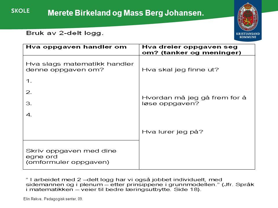 Merete Birkeland og Mass Berg Johansen.