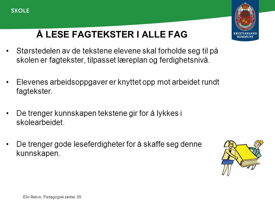Å LESE FAGTEKSTER I ALLE FAG
