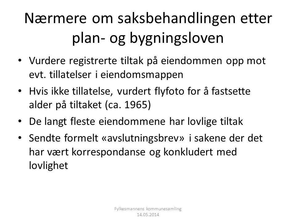 Nærmere om saksbehandlingen etter plan- og bygningsloven