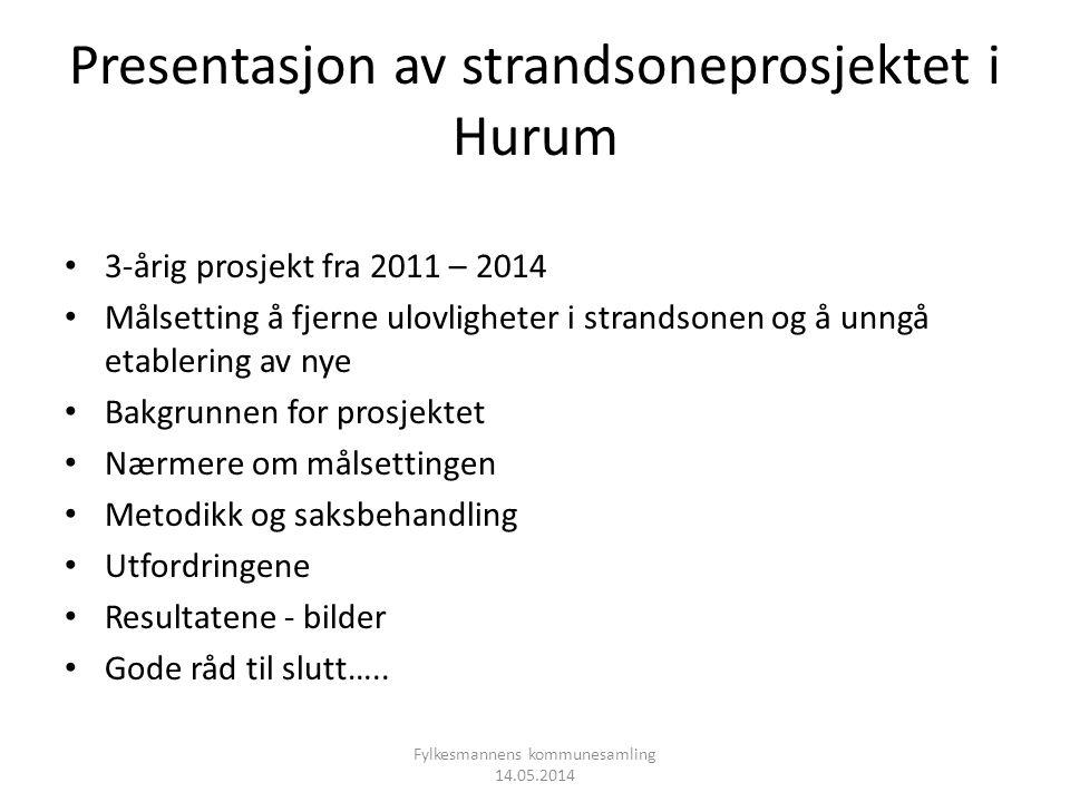 Presentasjon av strandsoneprosjektet i Hurum