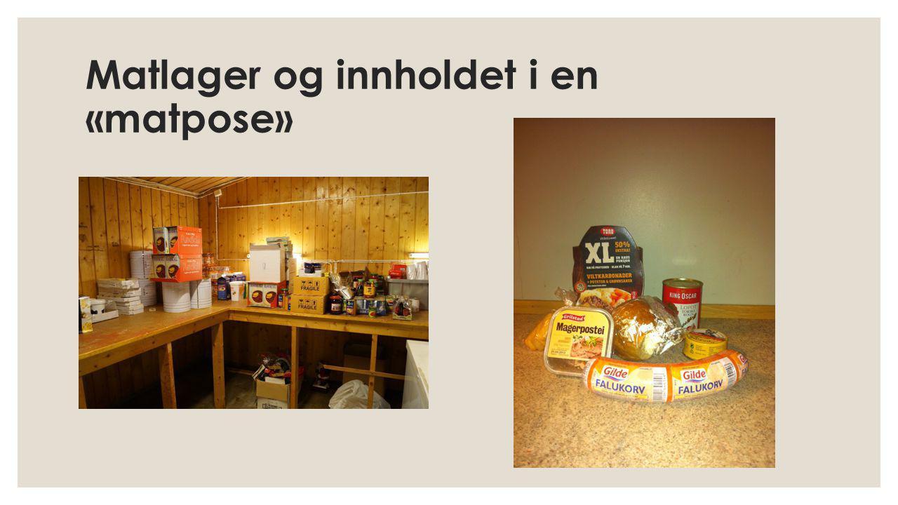 Matlager og innholdet i en «matpose»