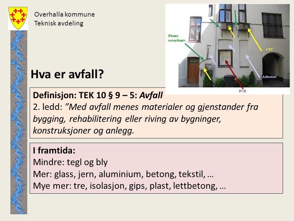 Overhalla kommune Teknisk avdeling. Hva er avfall