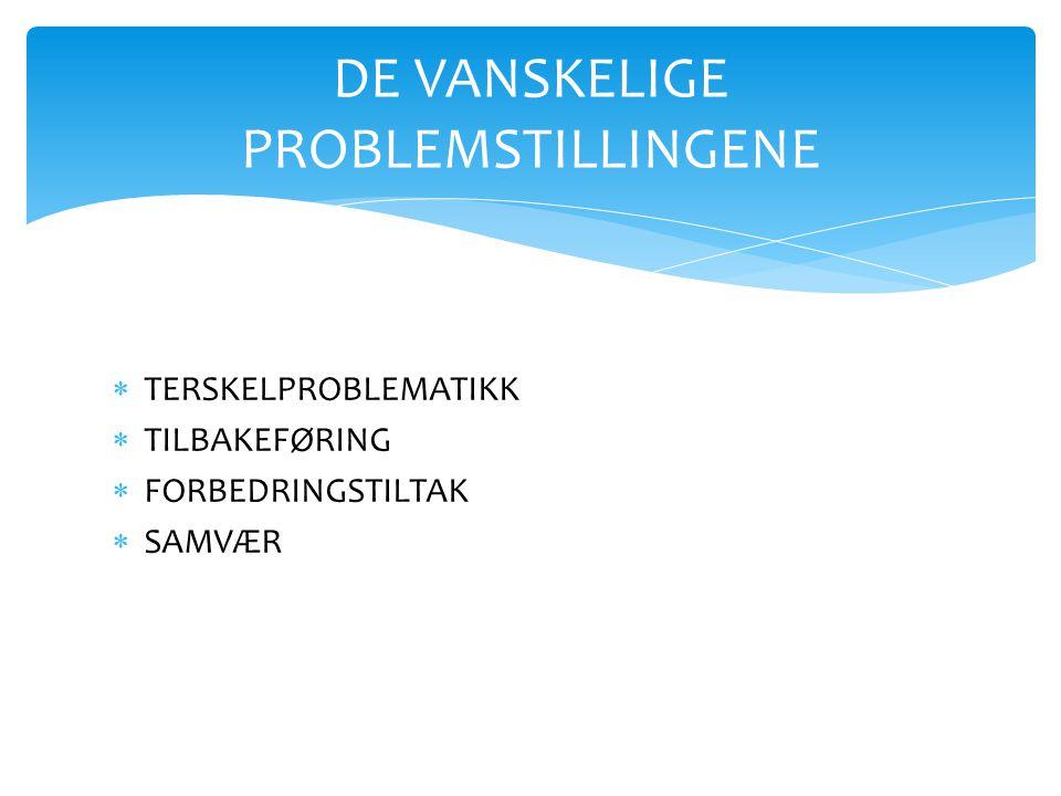 DE VANSKELIGE PROBLEMSTILLINGENE