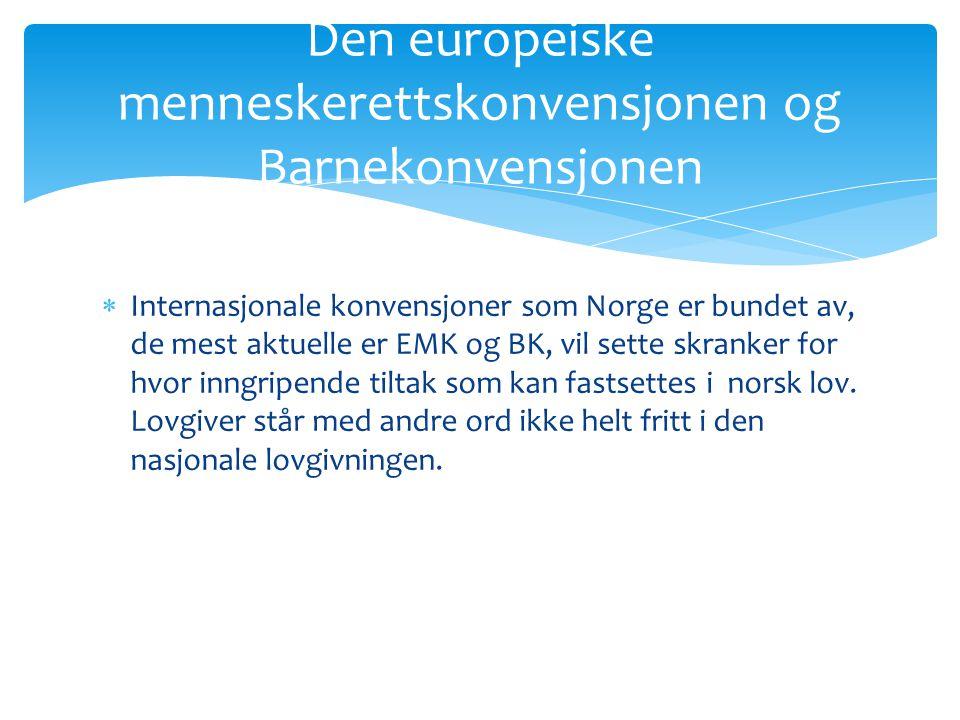 Den europeiske menneskerettskonvensjonen og Barnekonvensjonen