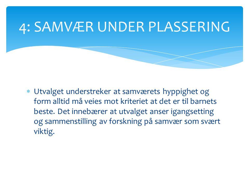 4: SAMVÆR UNDER PLASSERING