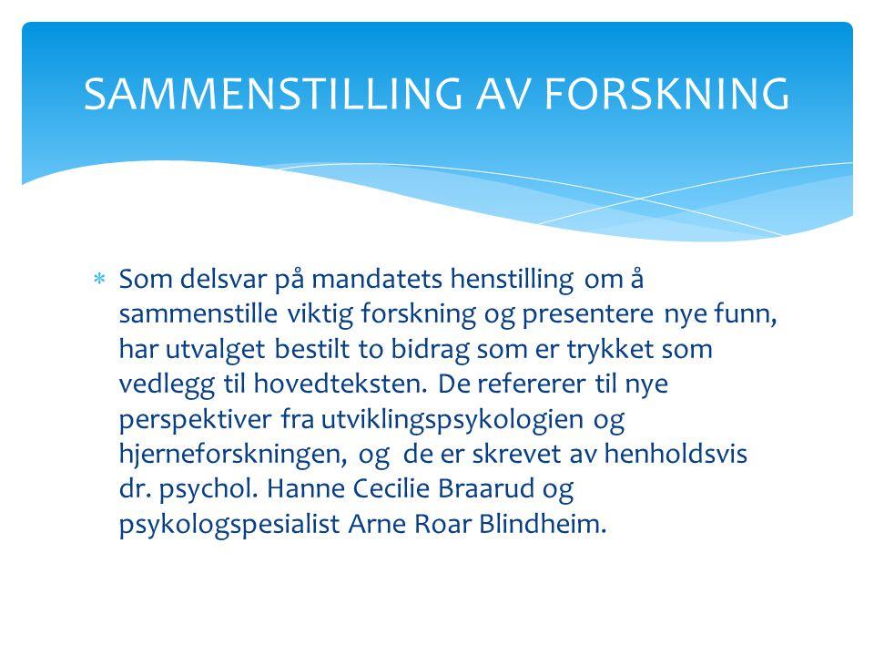 SAMMENSTILLING AV FORSKNING