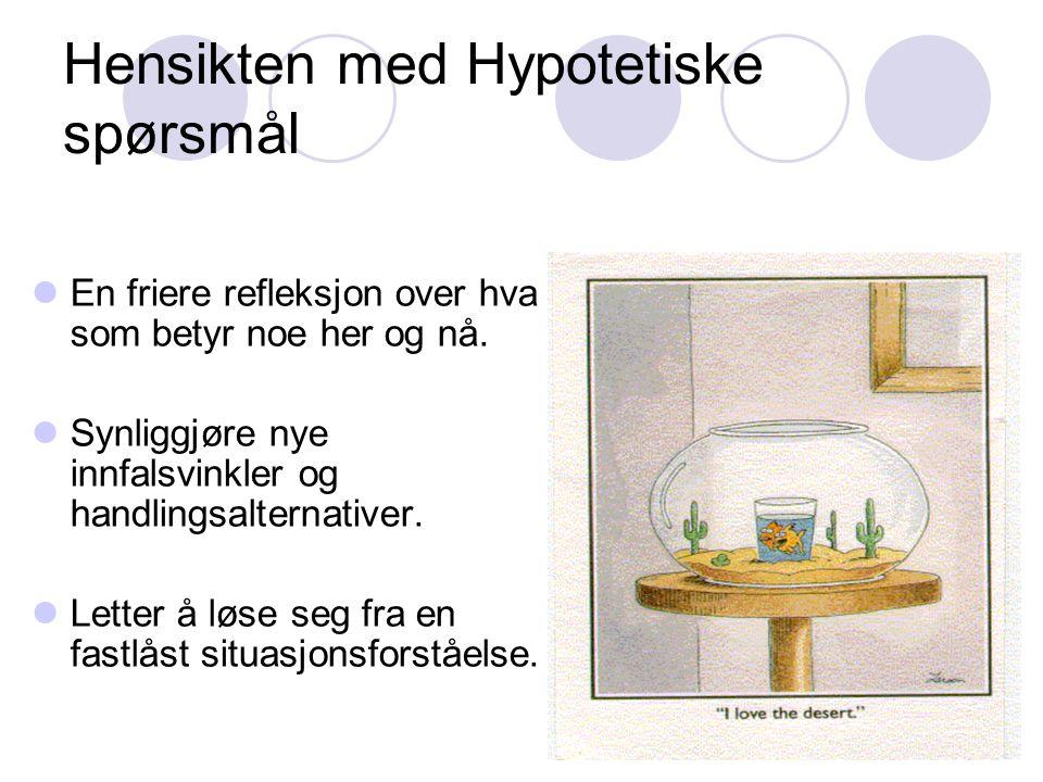 Hensikten med Hypotetiske spørsmål