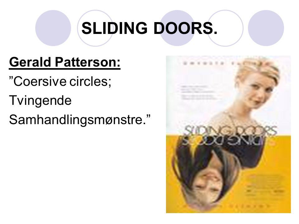 SLIDING DOORS. Gerald Patterson: Coersive circles; Tvingende