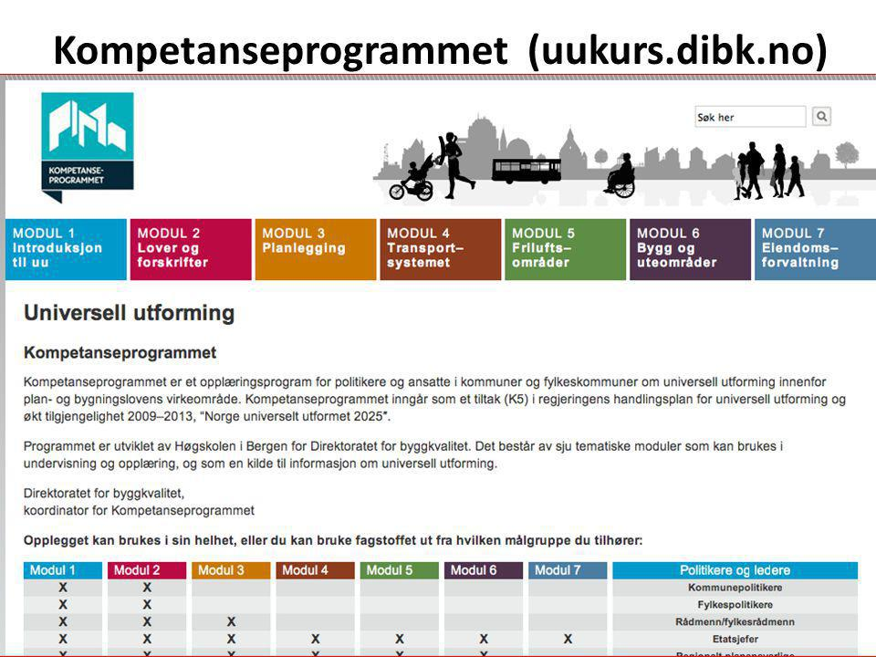 Kompetanseprogrammet (uukurs.dibk.no)