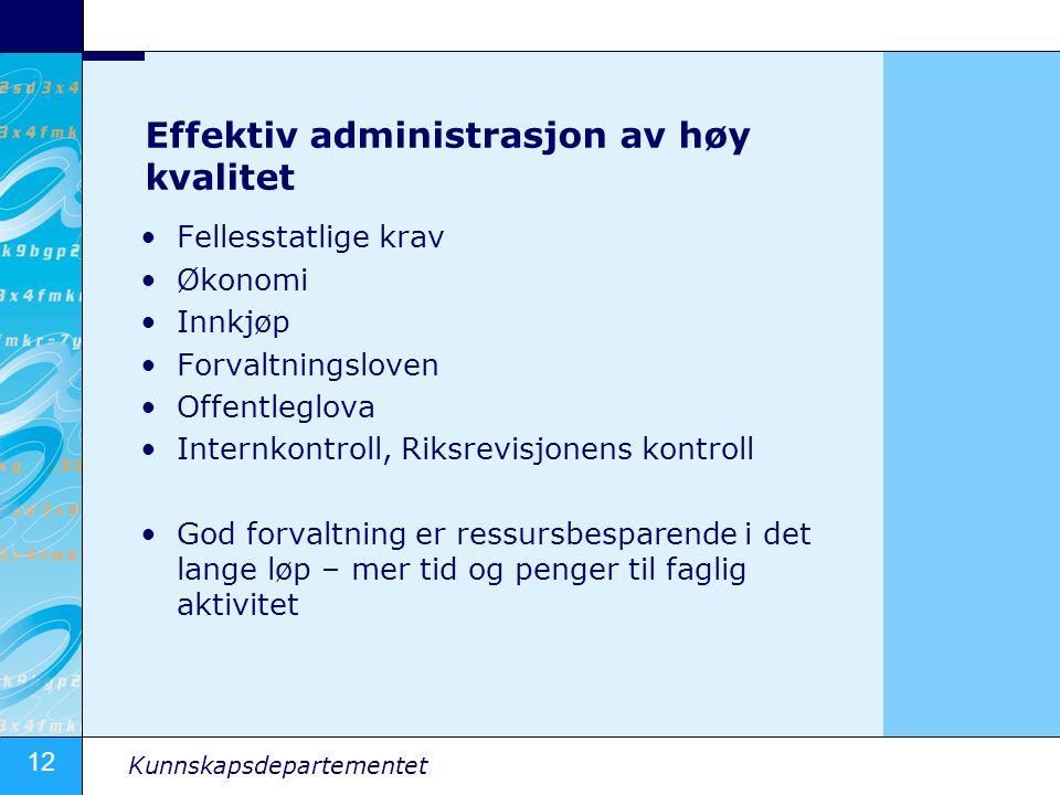 Effektiv administrasjon av høy kvalitet