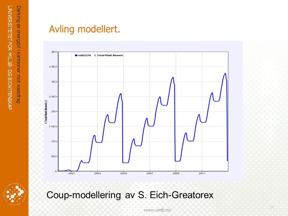 Coup-modellering av S. Eich-Greatorex