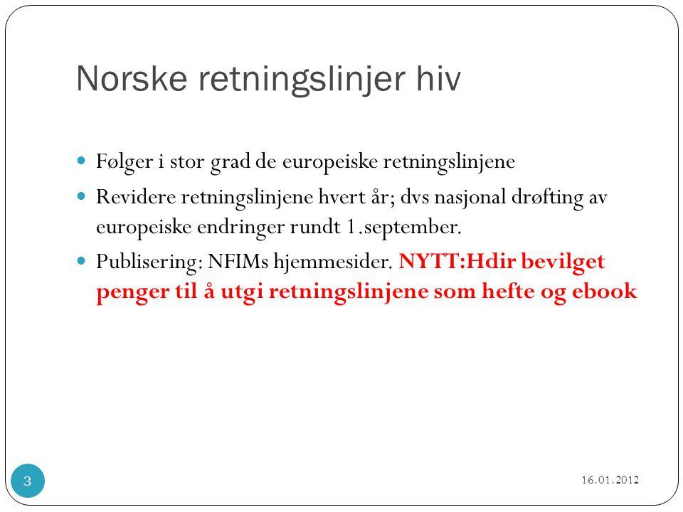 Norske retningslinjer hiv