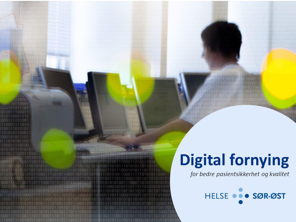 Digital fornying for bedre pasientsikkerhet og kvalitet