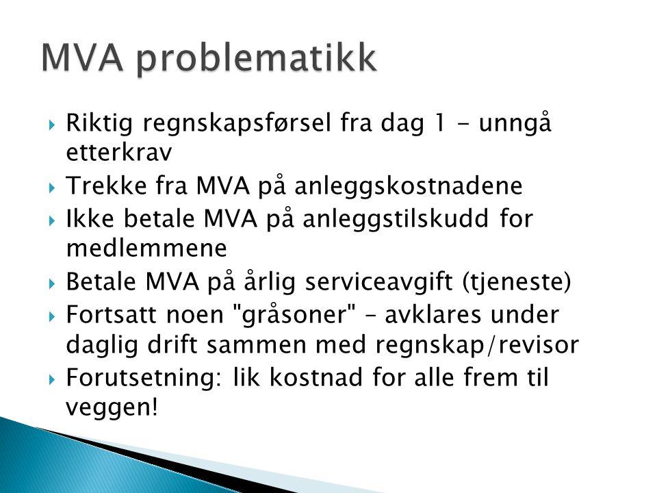 MVA problematikk Riktig regnskapsførsel fra dag 1 - unngå etterkrav