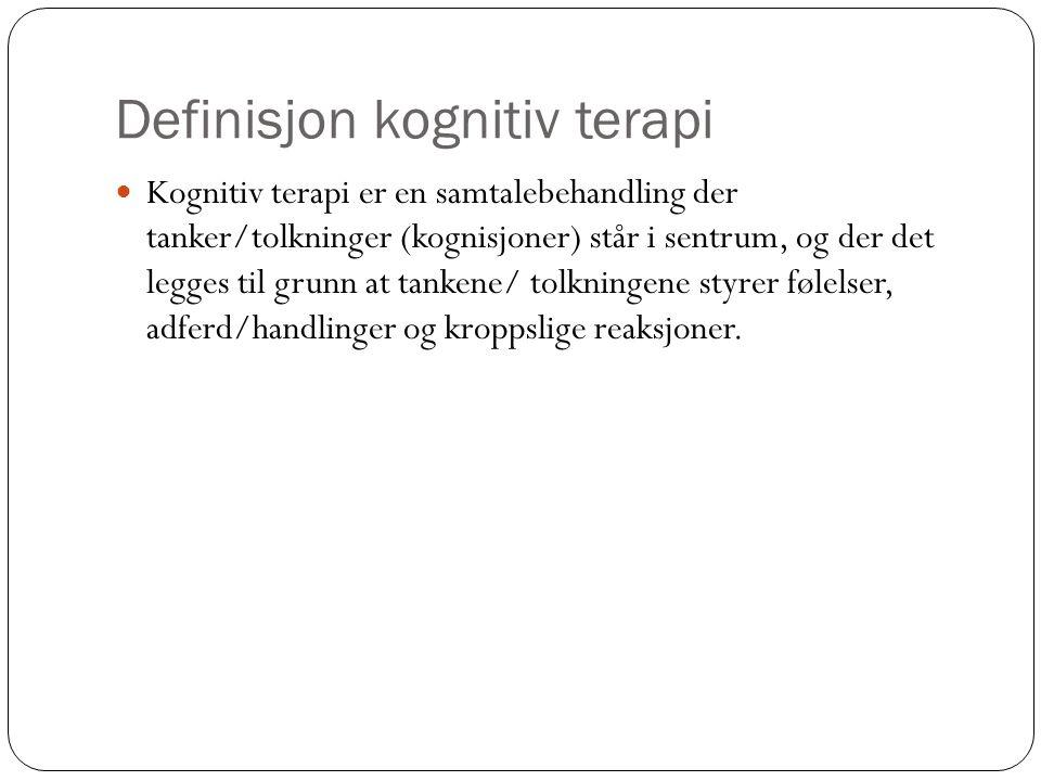 Definisjon kognitiv terapi