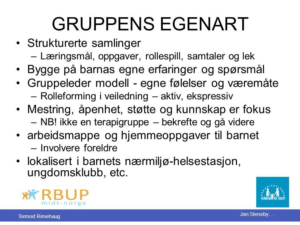 GRUPPENS EGENART Strukturerte samlinger