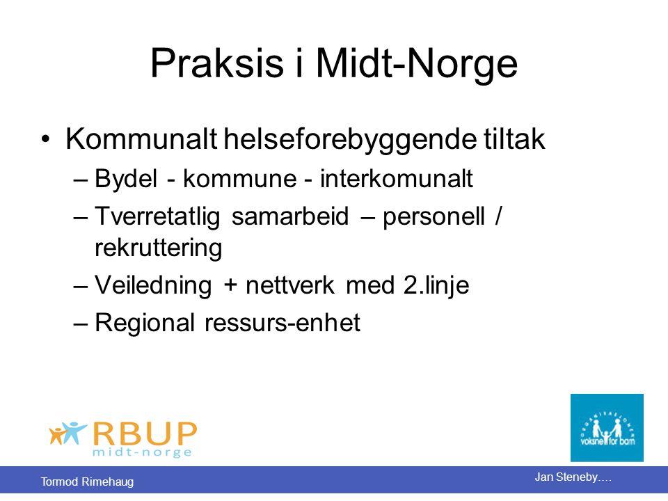 Praksis i Midt-Norge Kommunalt helseforebyggende tiltak