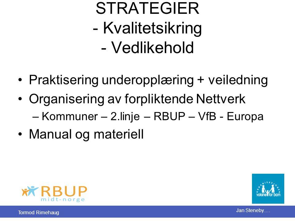 STRATEGIER - Kvalitetsikring - Vedlikehold