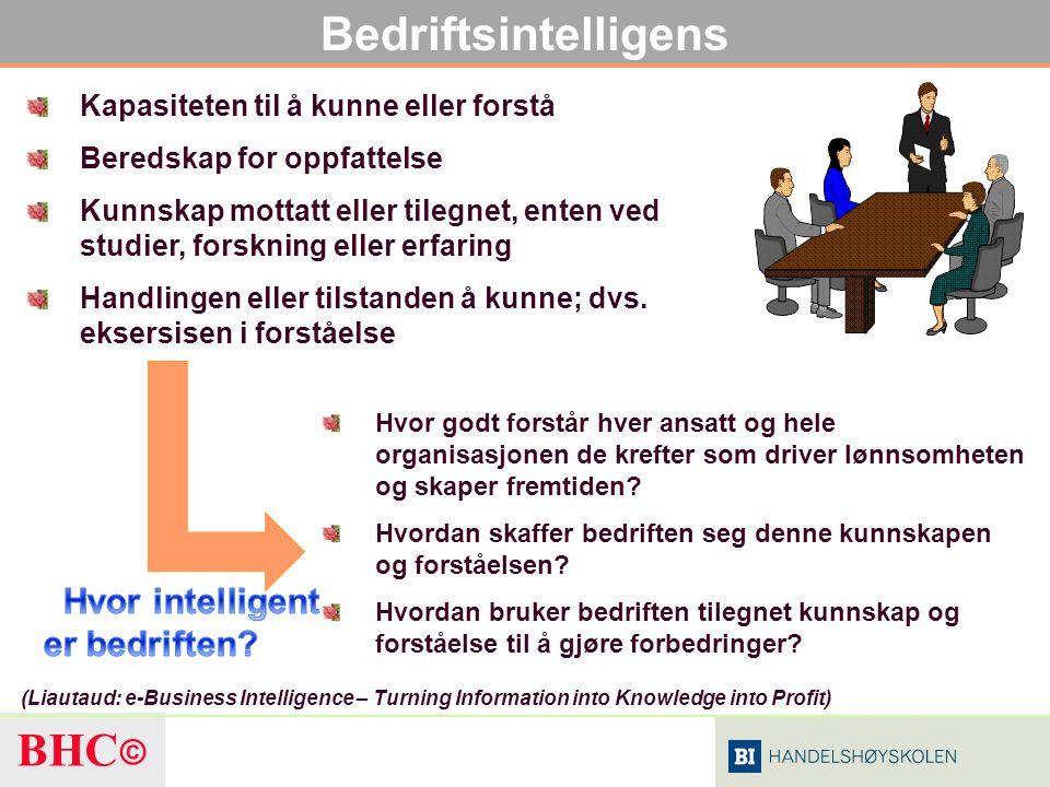 Bedriftsintelligens Hvor intelligent er bedriften