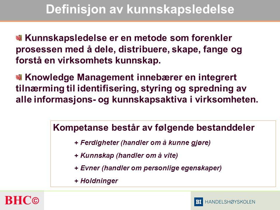 Definisjon av kunnskapsledelse