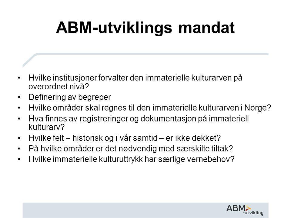 ABM-utviklings mandat