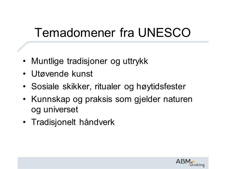 Temadomener fra UNESCO