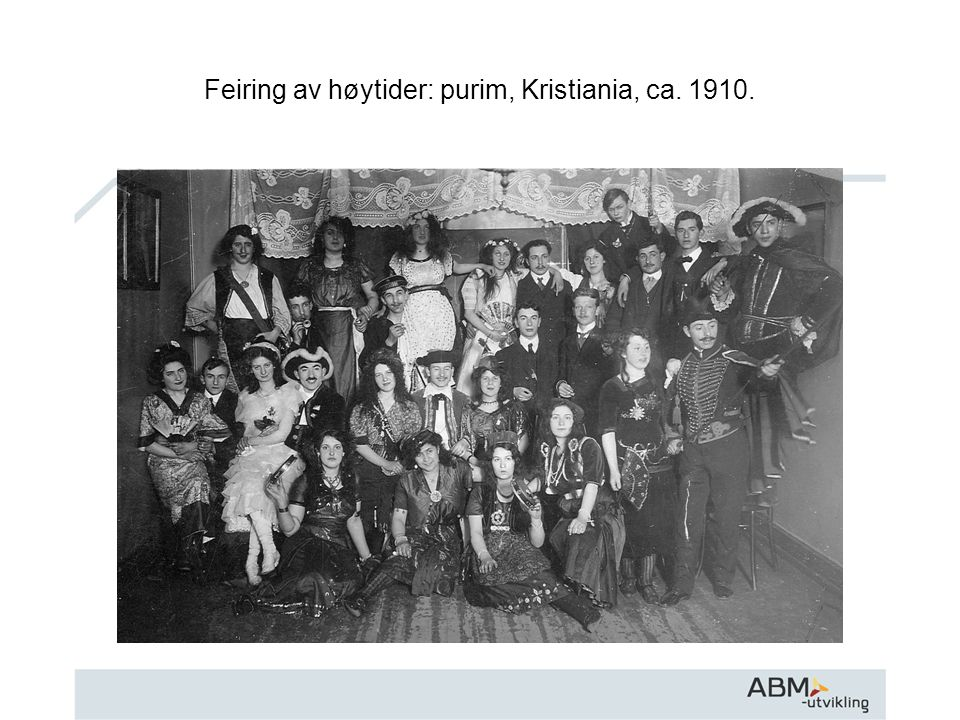 Feiring av høytider: purim, Kristiania, ca. 1910.