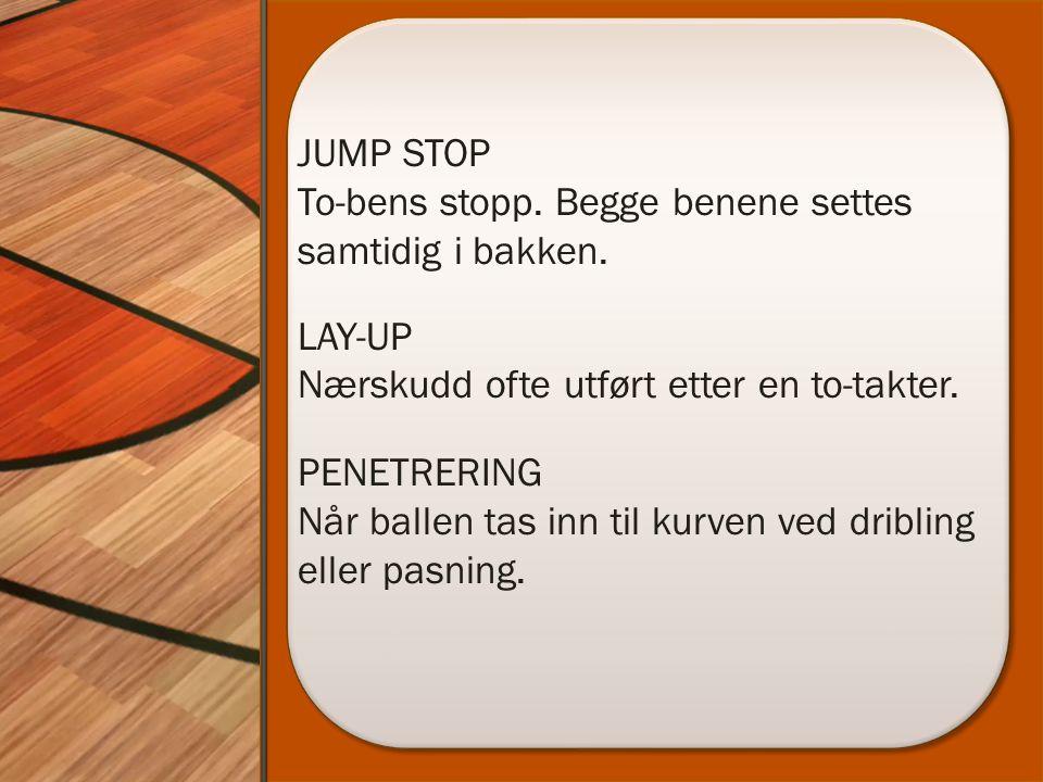 JUMP STOP To-bens stopp. Begge benene settes samtidig i bakken